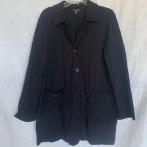 Black Stretch Crepe Jacket